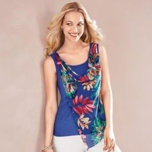 Signature Collection Tropical Flowy Tank